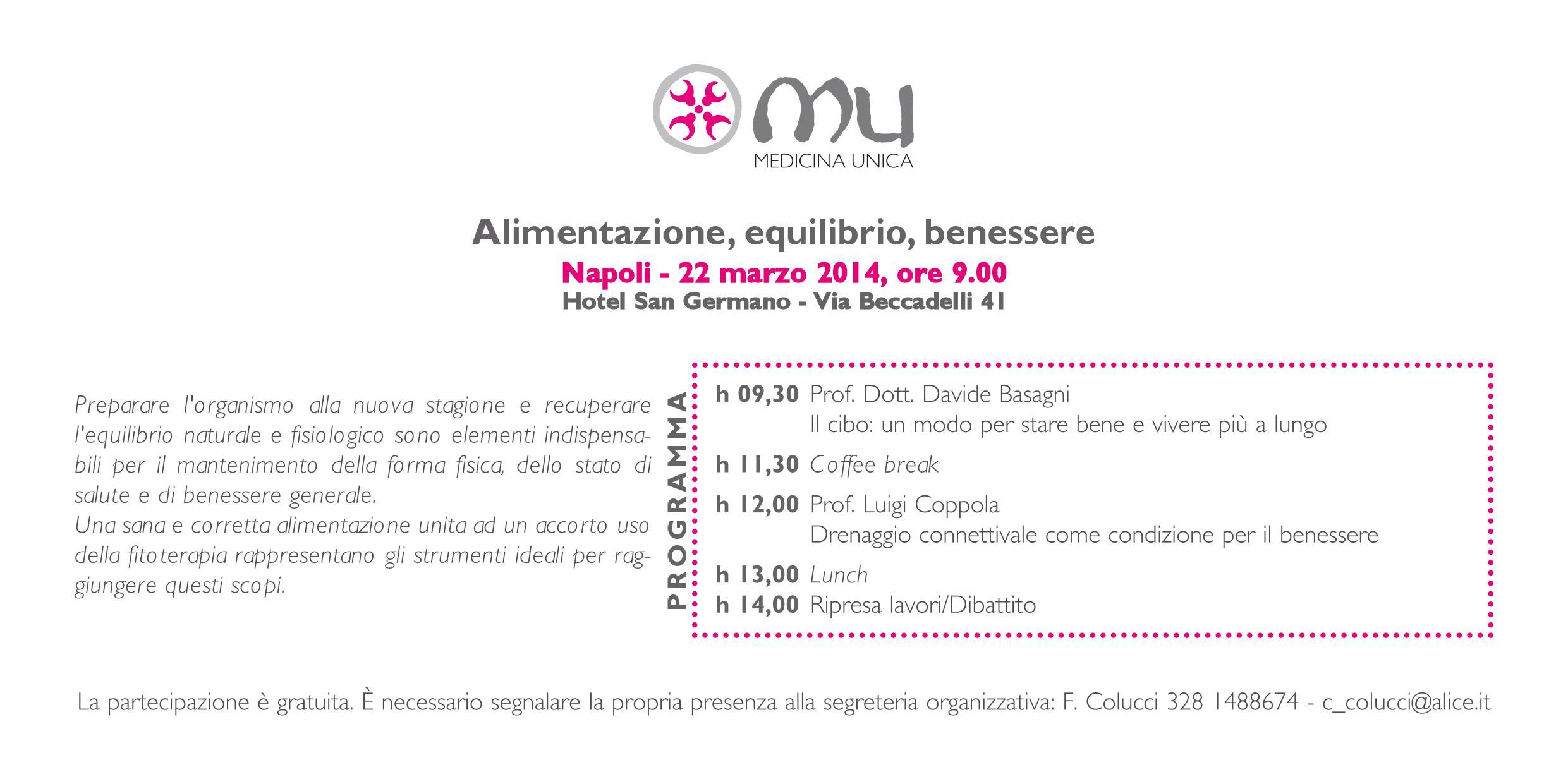 invito 22 marzo 2014 Napoli