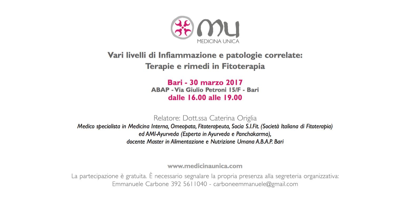 Invito Bari 30 marzo 2017
