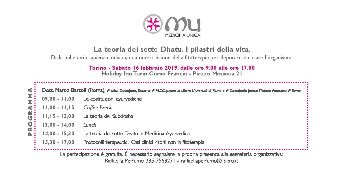 Invito Torino febbraio 2019