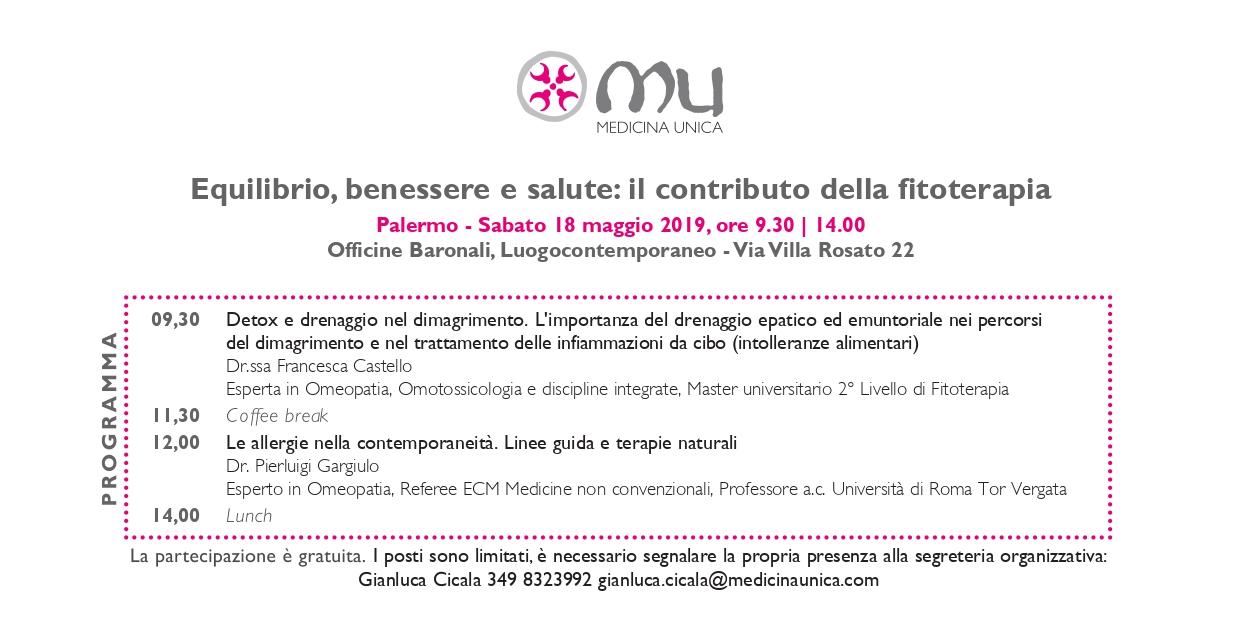 invito 18 maggio 2019 Palermo