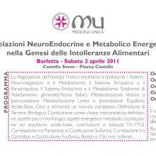 Correlazioni NeuroEndocrine e Metabolico Energetiche nella Genesi delle Intolleranze Alimentari